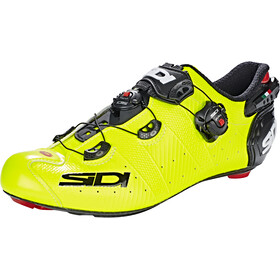 Sidi Wire 2 Carbon Schoenen Heren, yellow fluo/black